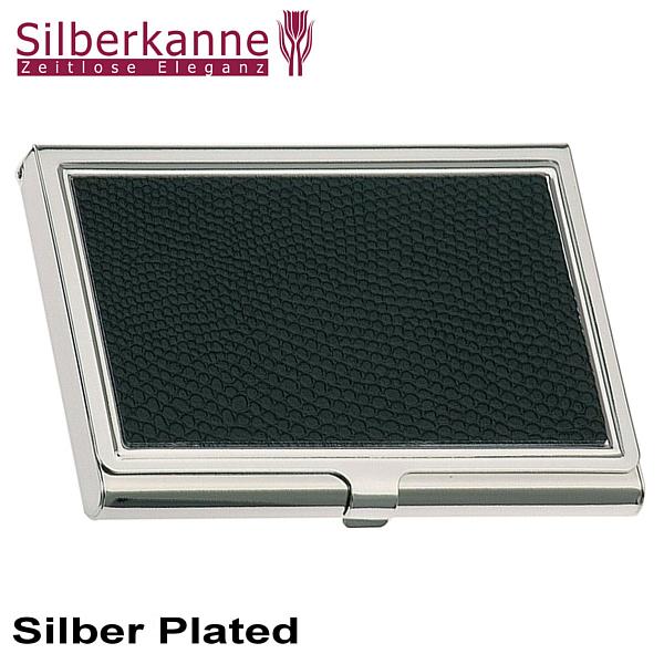 Visitenkartenetui 9 5x6 Cm Silber Plated Versilbert
