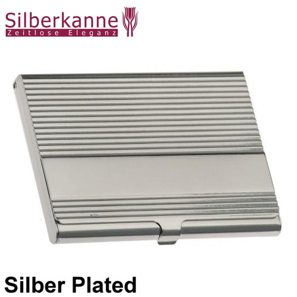 Visitenkartenetui Bremen 9 5x6 Cm Silber Plated Versilbert