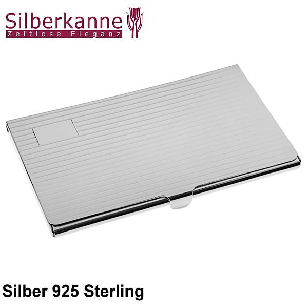Visitenkartenetui Fadenmuster 9 5x5 5 Cm Silber 925 Sterling