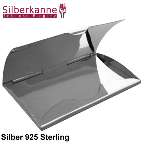 Visitenkartenetui Hamburg Glatt 10x6 Cm Silber 925 Sterling