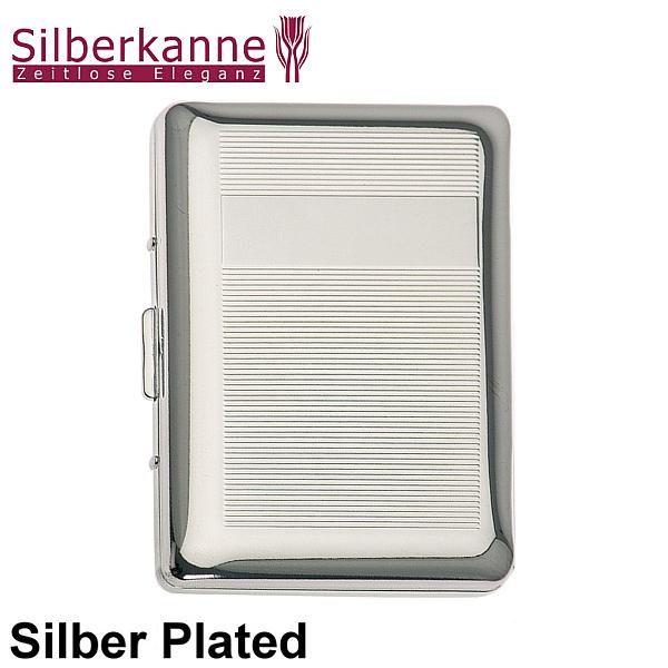 Visitenkartenetui Kreditkartenetui 9 5x6 Cm Silber Plated Versilbert